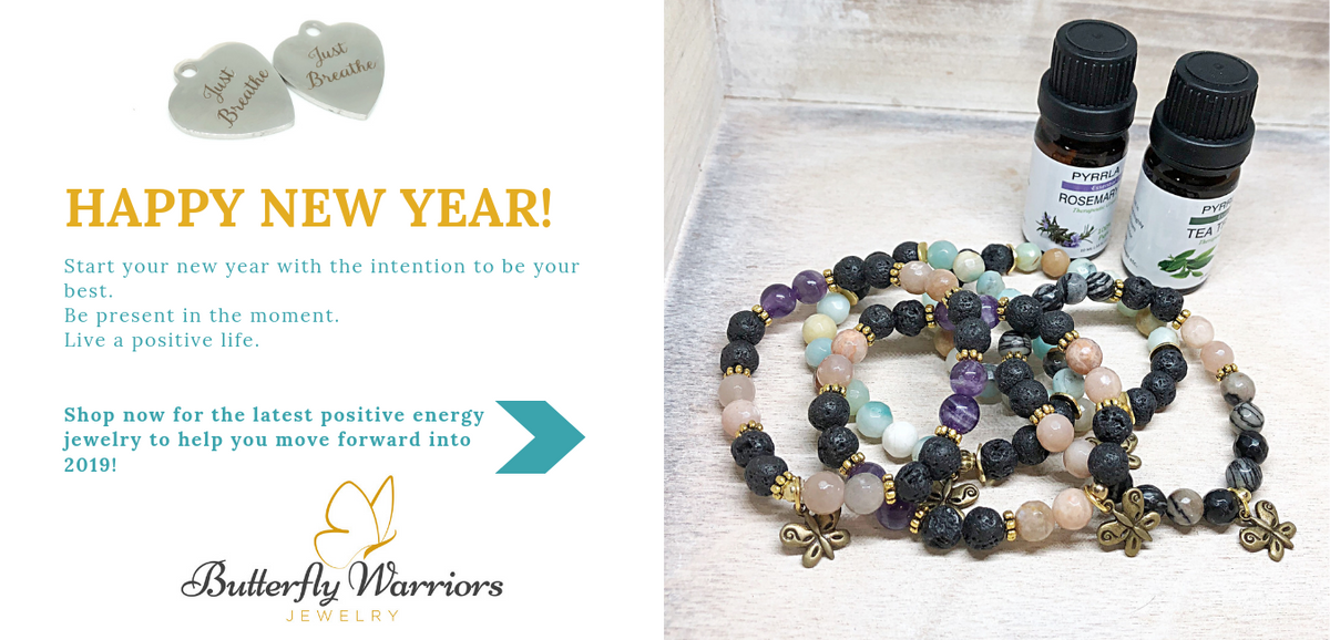 essential oil diffuser bracelets with Butterfly warriors jewelry