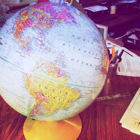 globe traveling around the world