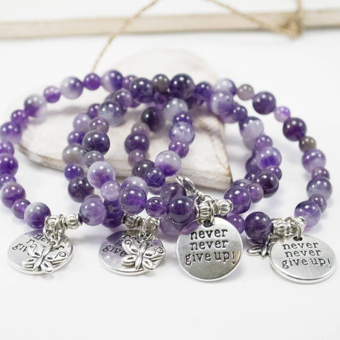 Fibromyalgia Bracelets Never give up