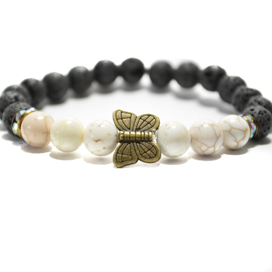 Diffuser Collection - Butterfly with Black Lava Bracelets
