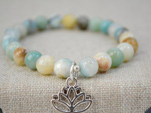 Zen Collection - Lotus Flower Gemstone Bracelet