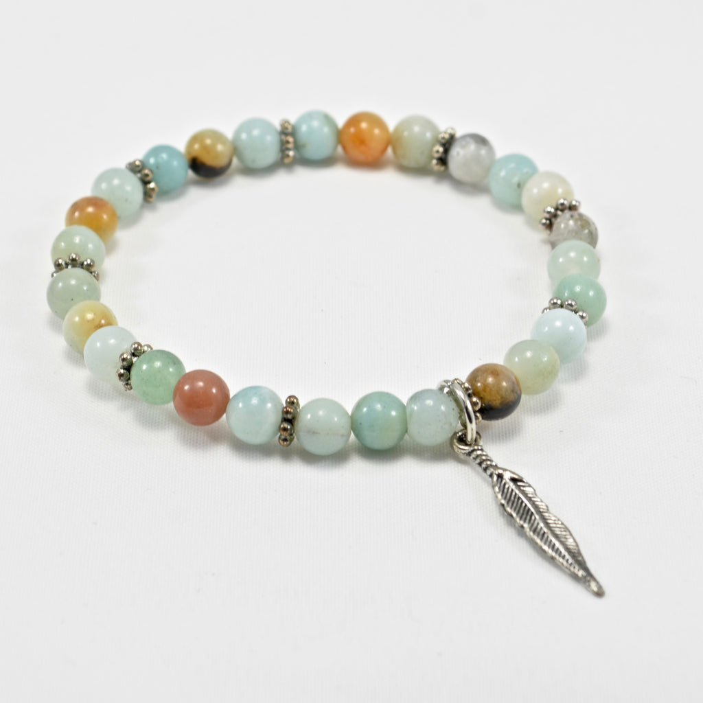 Calming Collection- Amazonite and Feather