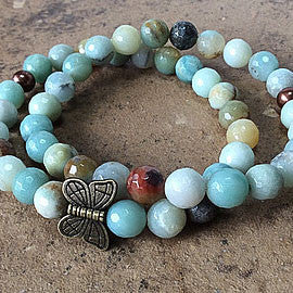 Gemstone Butterfly Bracelet