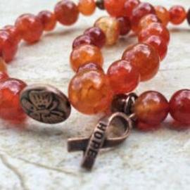Awareness Collection - Leukemia Awareness Gemstone Bracelet