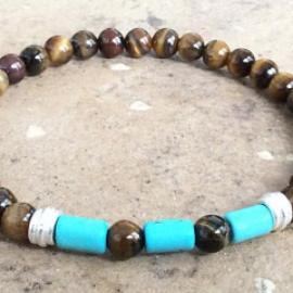 Tiger's Eye and Turquoise Bracelet