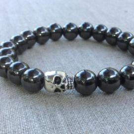 Unisex Collection - Grey and Silver Skull Bracelets