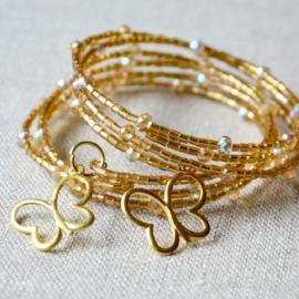 Gold Collection - Butterfly Memory Wire Cuff