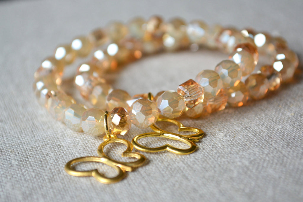Gold Collection-  Butterfly Bracelet - Childhood Cancer Awareness