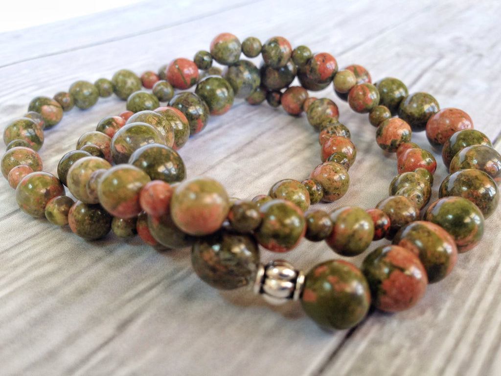 Balance Collection - Unakite Gemstone Bracelet