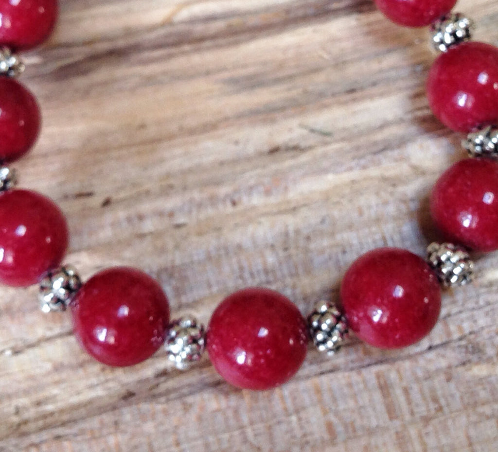 Zen Collection - Red Gemstone Bracelet