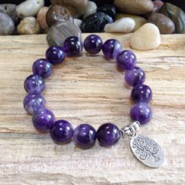 Zen Collection - Tree of Life Charm Amethyst Gemstone Bracelet