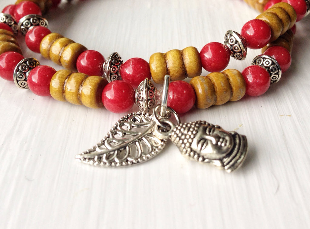 Zen Collection - Buddha Bracelet stack - Childhood Cancer Fundraiser