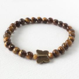 Butterfly Collection - Tiger's Eye Gemstone Butterfly Bracelet