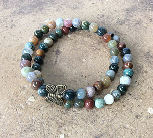 gemstone butterfly bracelet by Butterfly Warriors Jewelry