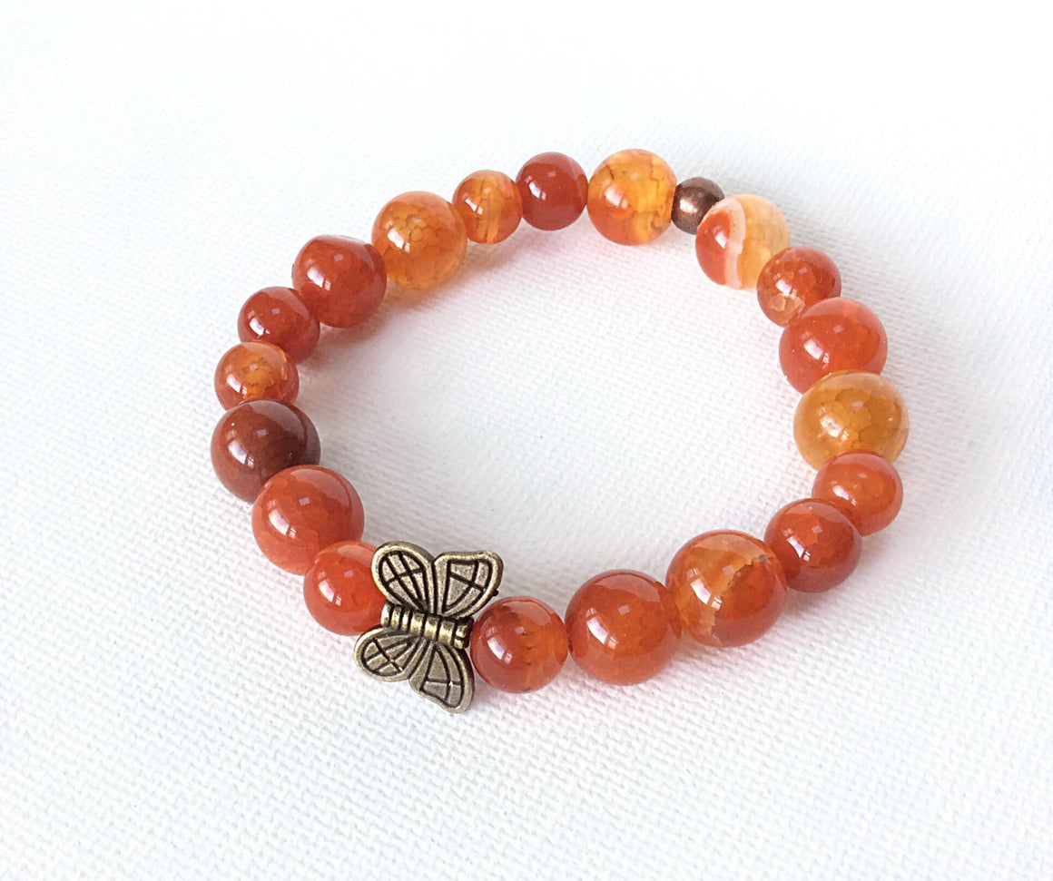 Awareness Collection - Leukemia Awareness Butterfly Bracelet