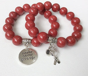 Awareness Collection - Never Give Up bracelet