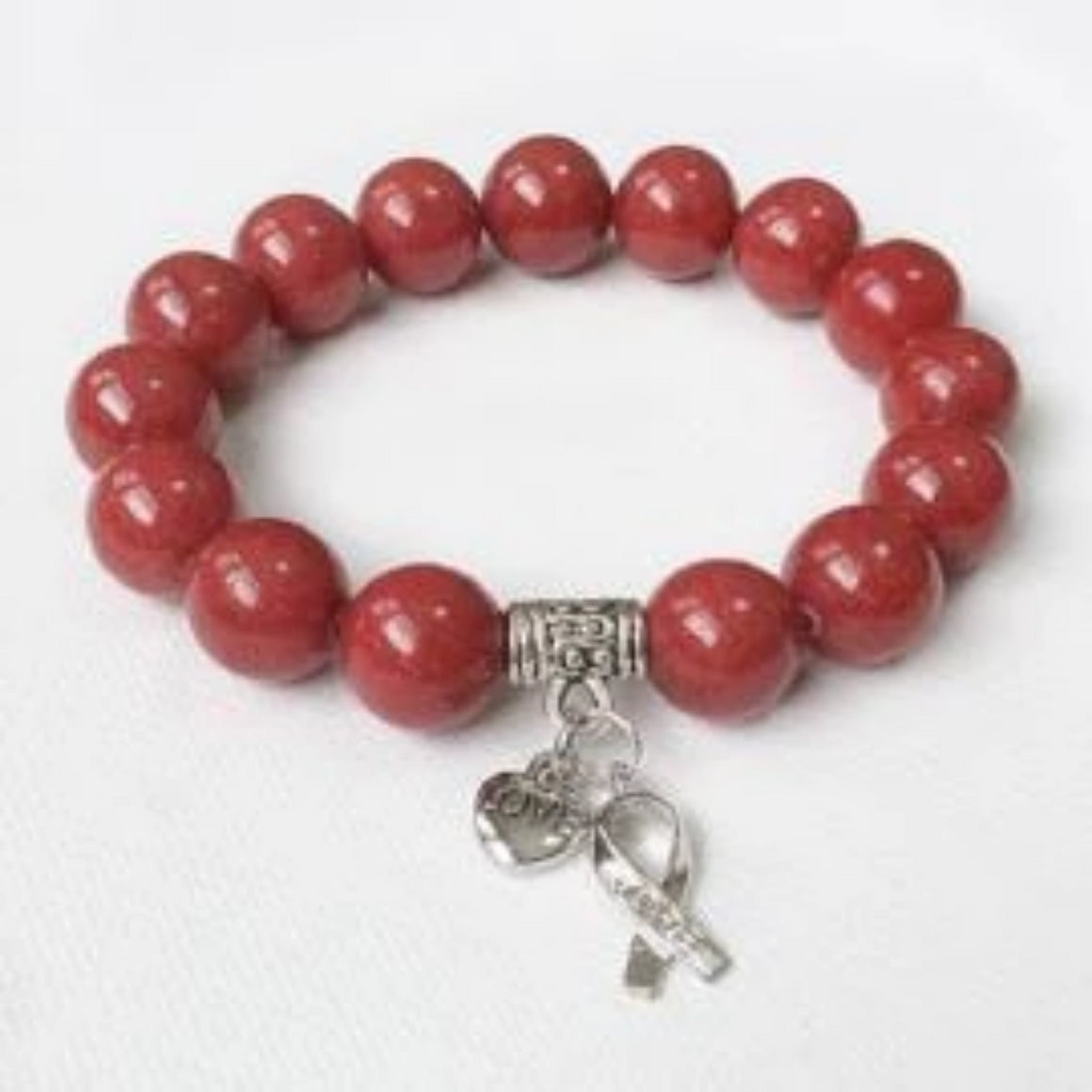 Awareness Collection - Blood Cancer Awareness bracelet, Hope ribbon