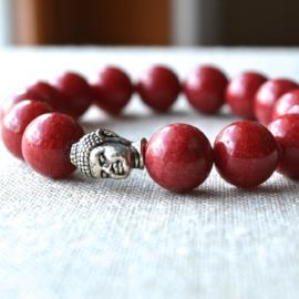 Zen Collection - Red Buddha Gemstone Bracelet