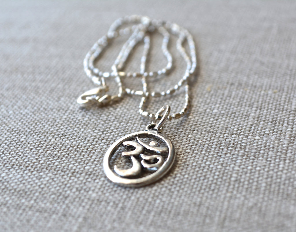 Zen Collection - Silver Om Necklace