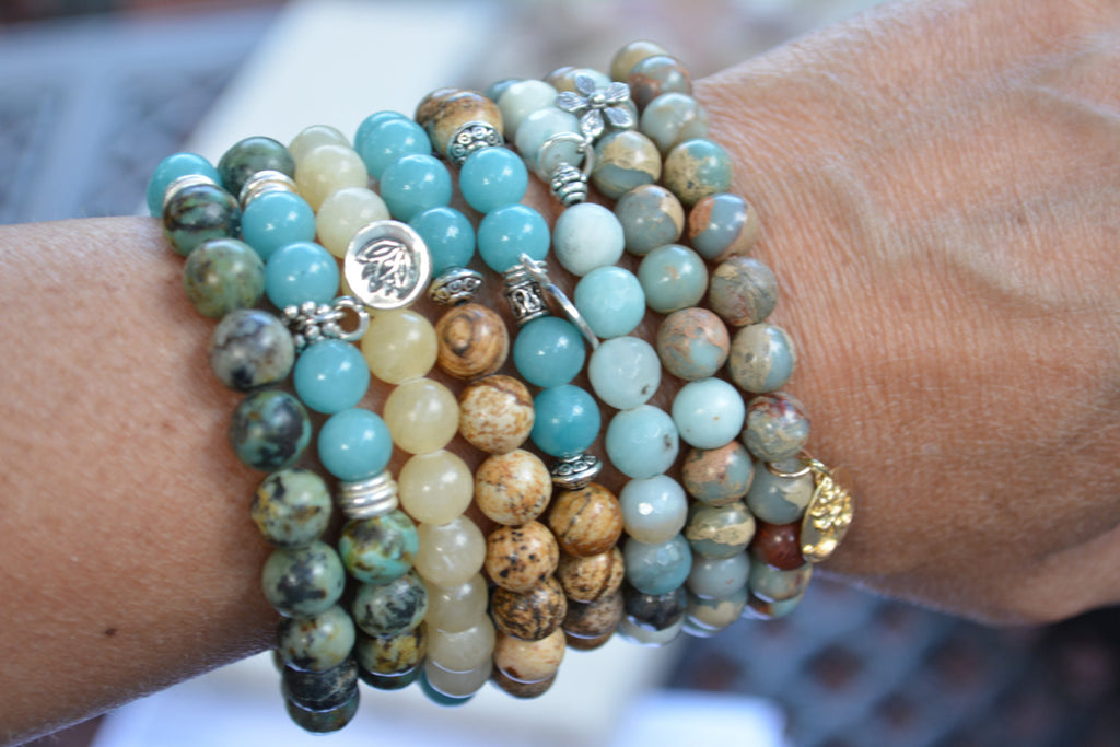 gemstone bracelet stack