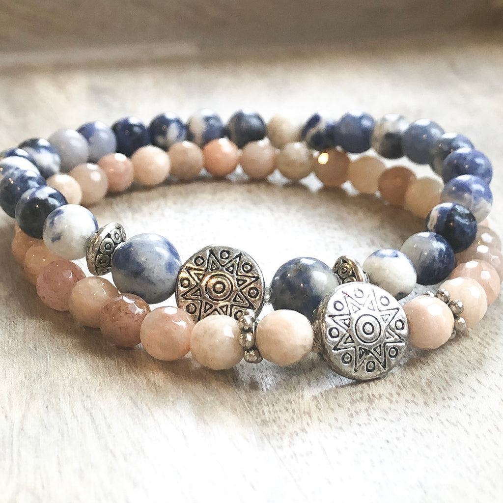 Sodalite Positive Energy Bracelet Confidence and Strength