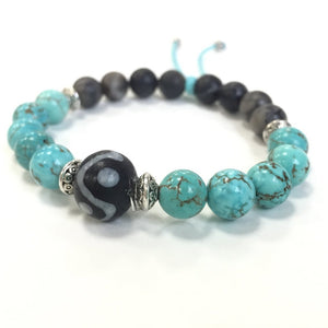 turquoise stretch diffuser bracelet