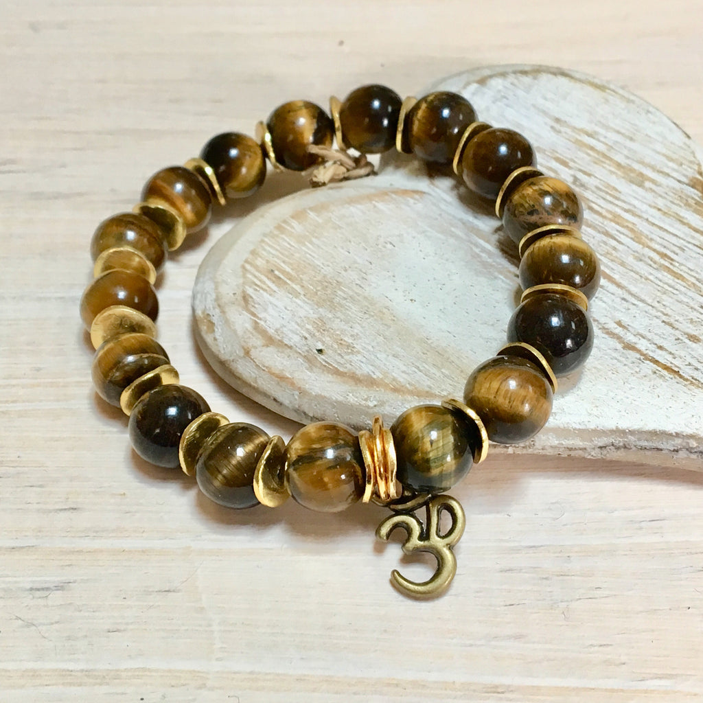 tiger eye gemstone bracelet