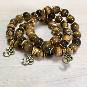 tigers eye bracelets with charms zen
