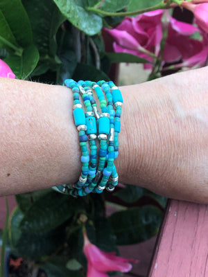 Ocean multi-wrap bracelet/ necklace
