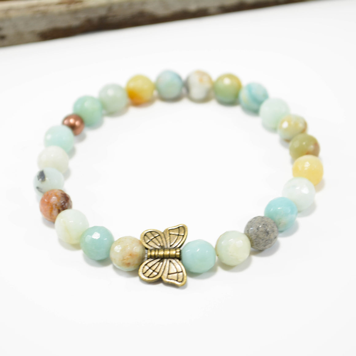 Calming and Soothing Energy Bracelet - Bronze Butterfly