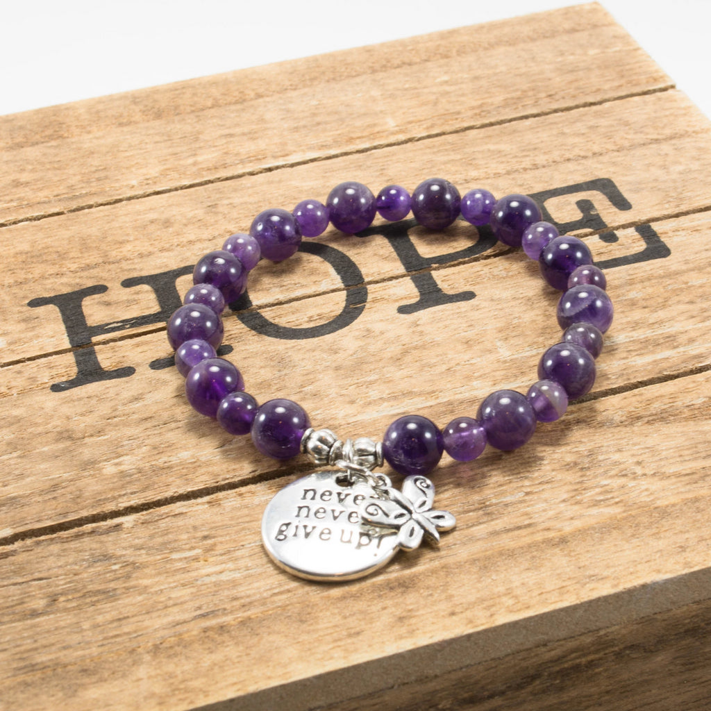 Awareness Collection - Amethyst Lupus and Fibromyalgia Support Bracelet