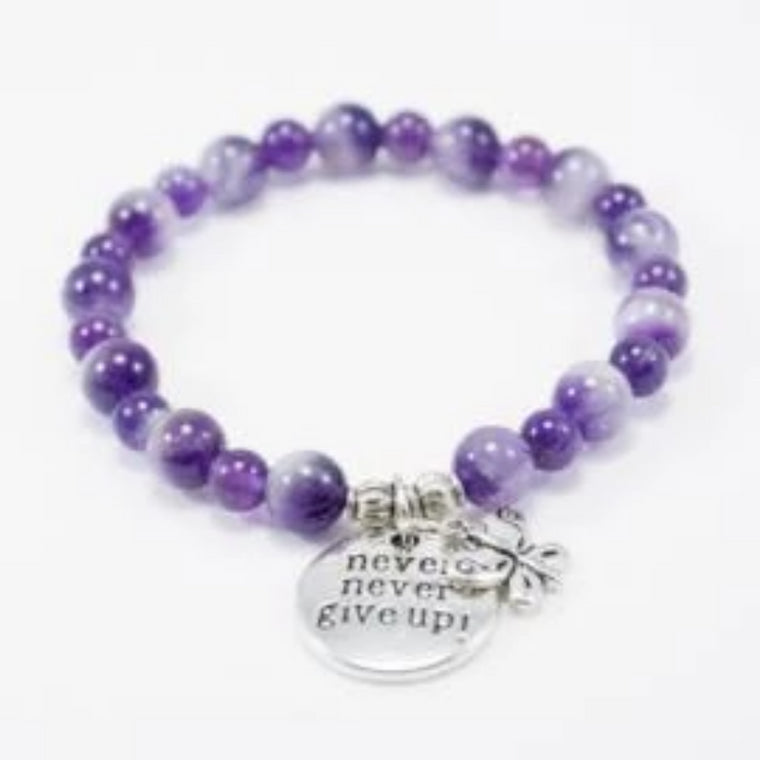 Amethyst Lupus and Fibromyalgia Support Bracelet