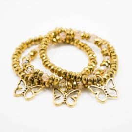 Gold Collection - Childhood Cancer Awareness Butterfly Bracelets