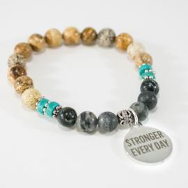 Stronger Every Day - Motivational Bracelet