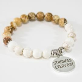 Awareness Collection - Stronger Every Day Motivational Bracelet