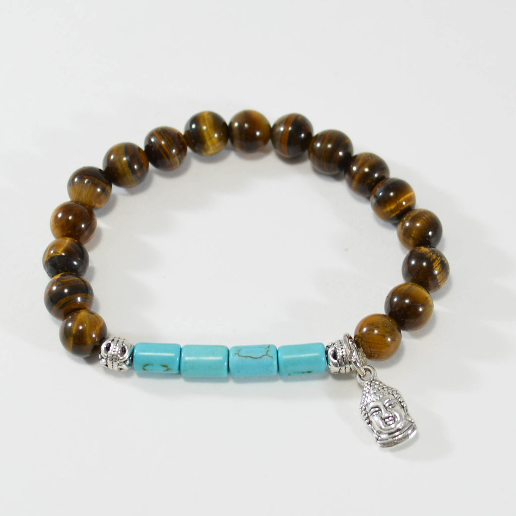 Zen Collection - Tiger's Eye and Turquoise bracelet