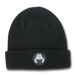 Crab Grab Circle Patch Beanie
