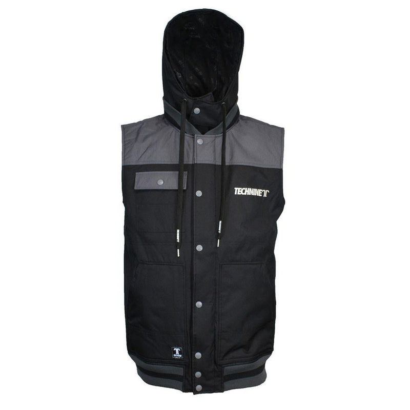 Technine Removable Hood Quilted Vest 2016 Black/Charcoal Ash Outerwear