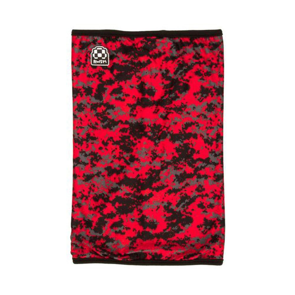 AWSM Neck Warmer Red Camo Snowboard Accessories Australia