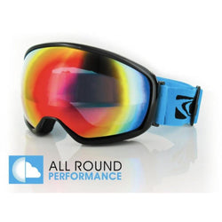 Carve First Tracks Black Revolution Red Lens Snow Goggle