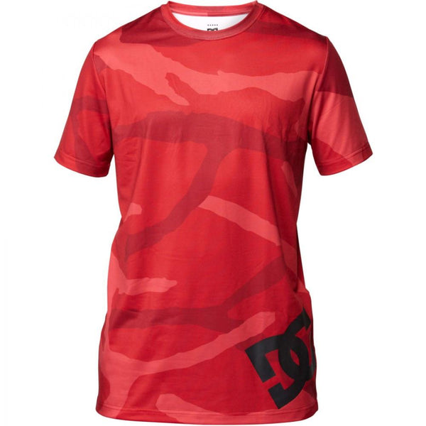 DC Aravis Red Camo Short Sleeve Thermal Top First Layer Australia