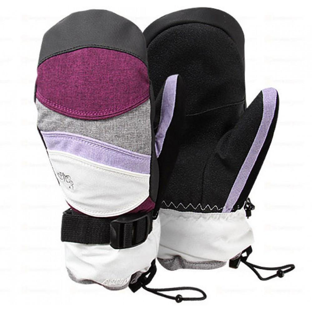 M3 Chariot Mitten White Grape 2015 Womens Snowboard Gloves Australia
