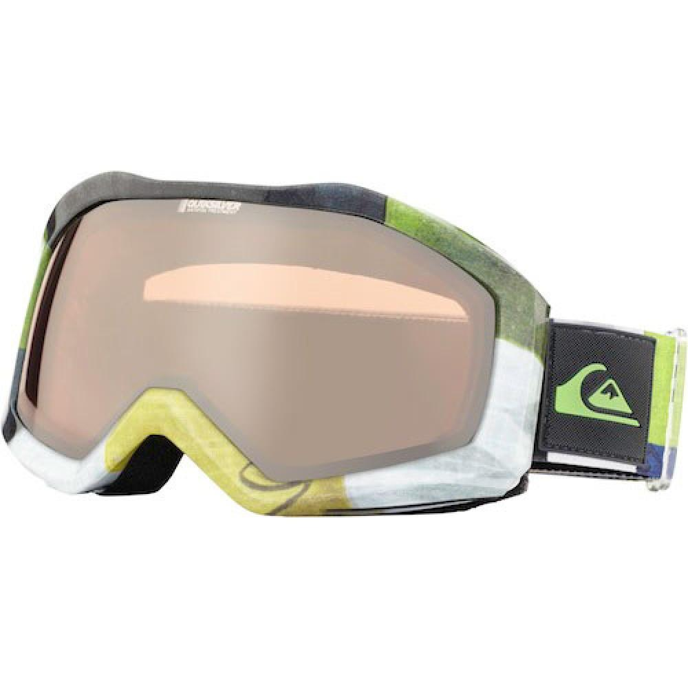 Quiksilver Fenom Spherical Mirror Checker Lime Snow Goggles Australia