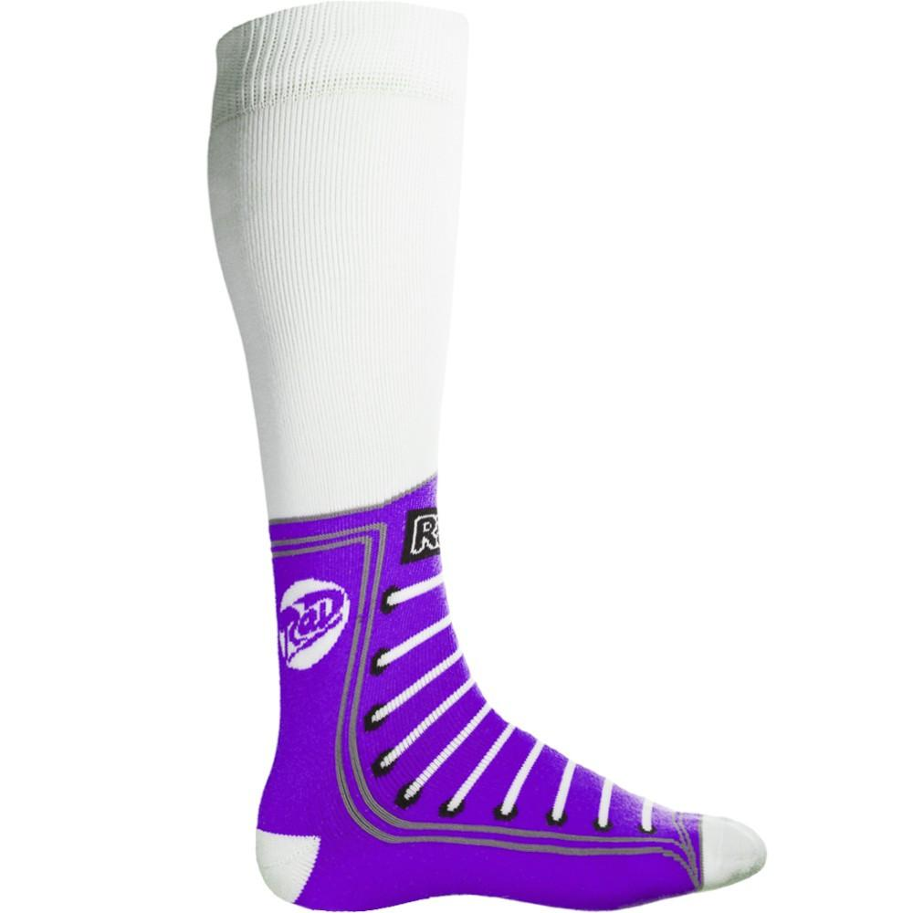 Radical! Gloves The Kicker Sock White w/Deep Purple 2015 Snow Socks Australia