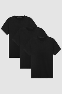 CREW NECK 3-PACK  / BLACK