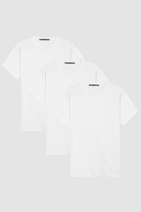CREW NECK 3-PACK  / WHITE