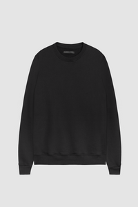 CREW NECK SWEATSHIRT / BLACK