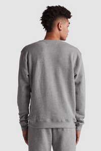 CREW NECK SWEATSHIRT / HEATHER GREY