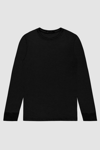 LONG SLEEVE CREW / BLACK