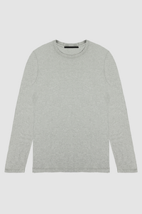 LONG SLEEVE CREW / HEATHER GREY